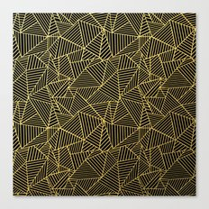 Ab 2 R Black and Gold Canvas Print