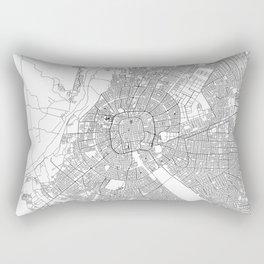 Santa Cruz White Map Rectangular Pillow