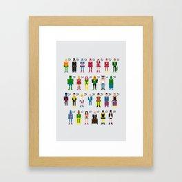 Pixel Superhero Alphabet 2 Framed Art Print
