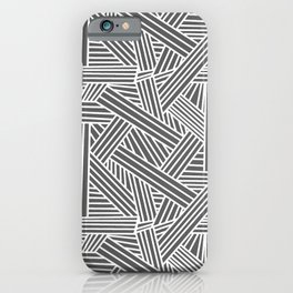 Sketchy Abstract (White & Grey Pattern) iPhone Case