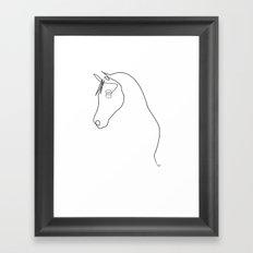 Horse line Framed Art Print