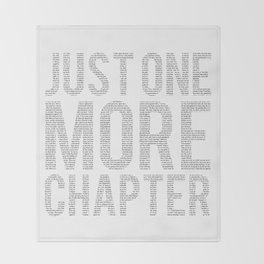 Just One More Chapter Throw Blanket