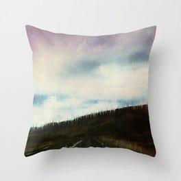 Pastel Skyway Throw Pillow