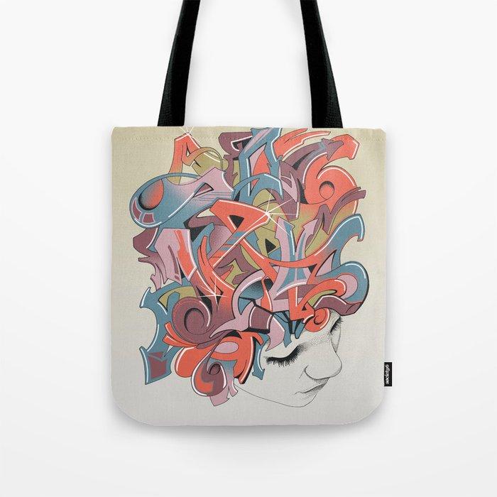 Graffiti Head Tote Bag