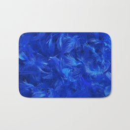 Blue Feathers Bath Mat