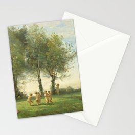 "Jean-Baptiste-Camille Corot ""Ronde D'Amours; Lever du Soleil"" Stationery Cards"