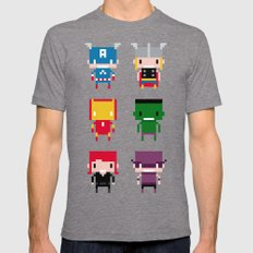 Pixel Avengers MEDIUM Mens Fitted Tee Tri-Grey