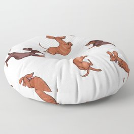 Wiener Doggies Floor Pillow