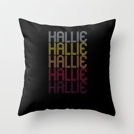 Hallie Name Gift Personalized First Name Throw Pillow