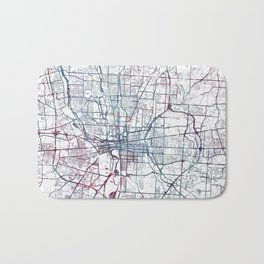Columbus map Bath Mat