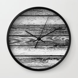 Weathered White Wood Wall Wall Clock