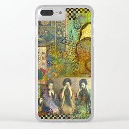Speak, See, Hear no Evil Clear iPhone Case