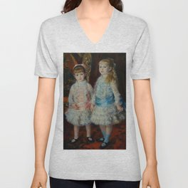 "Auguste Renoir ""Pink and Blue - The Cahen d'Anvers Girls"" Unisex V-Neck"