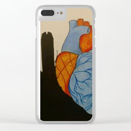 Thunder Heart Clear iPhone Case