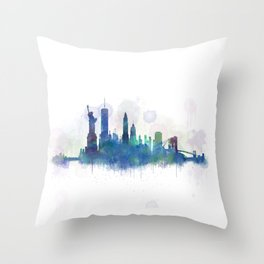 NY New York City Skyline Throw Pillow
