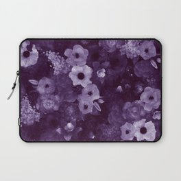 Purple Flowers Laptop Sleeve