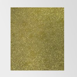 Classic Bright Sparkly Gold Glitter Throw Blanket