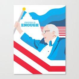 Enough is Enough poster Canvas Print