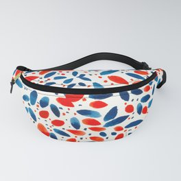Red Blue Wreath Fanny Pack