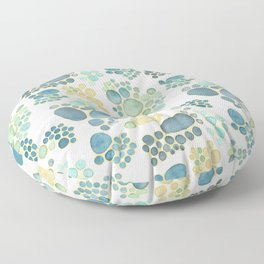 Pebbles in Light Blue Pattern Floor Pillow