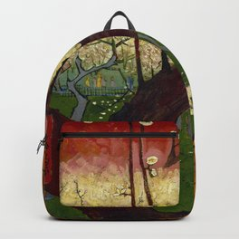 "Vincent van Gogh ""Flowering plum orchard - near Hiroshige"" Backpack"