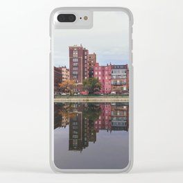 Pink Reflections Clear iPhone Case