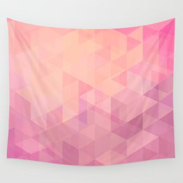 Geometric Pink  Wall Tapestry