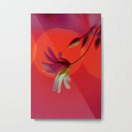 Tangerine Stitch Metal Print