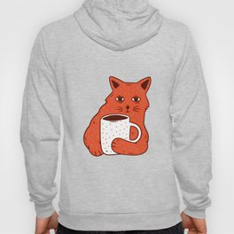 Peach Coffee Kitten Hoody