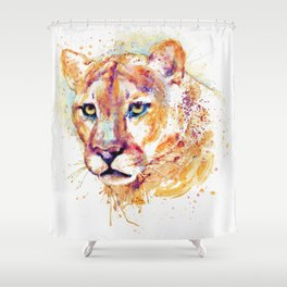 Cougar Head Shower Curtain