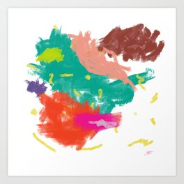 Dab the stain with a damp cloth Art Print
