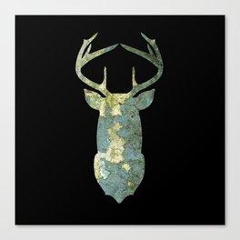 Deer Outline Texture 08 Canvas Print