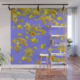 Yellow Daffodils Jonquils Narciscus Flowers Lilac Art Wall Mural