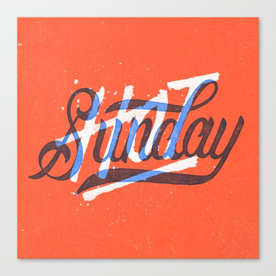 Hot Sunday Canvas Print