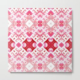 Soft Pink Swirling Metal Print