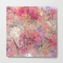 Abstract pink pattern Metal Print
