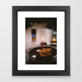 birthday toast Framed Art Print