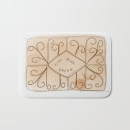Live yours dreams - custard cream Bath Mat