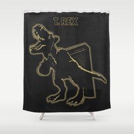 Electric (Prehistoric) Warrior Shower Curtain