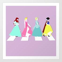 Princesses Road Art Print