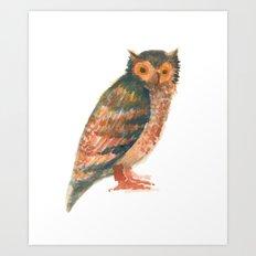 Owl & co. Art Print