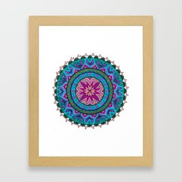 Meditation Mandala Framed Art Print