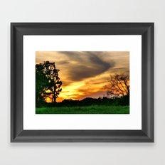 April East Texas Sunset Framed Art Print