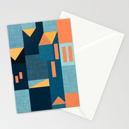 Yellow Klee houses Stationery Cards