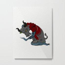 "Minotaur, Greek Minotauros (""Minos's Bull""), in Greek mythology Metal Print"