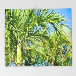 Keanae Palms Maui Hawaii Aloha Throw Blanket