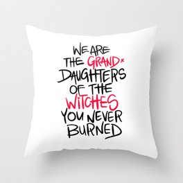Grand Witches Throw Pillow