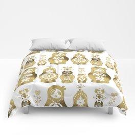 Russian Nesting Dolls – Gold Palette Comforters