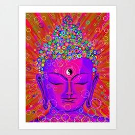 Stillness pink Art Print