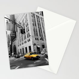 yellow taxi Stationery Cards